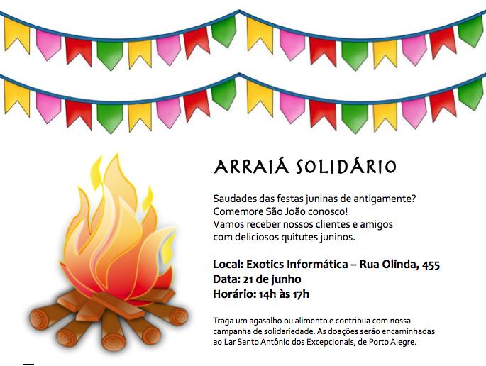 Convite Arraiá Solidário