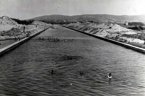 O Dilúvio na época em que era utilizado para banho e diversão. Crédito: Divulgação/PMPA
